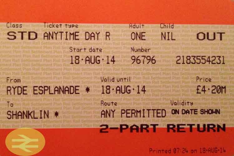 billete national rail