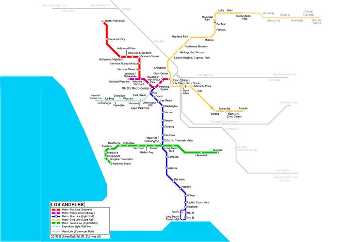 mapa metro LA