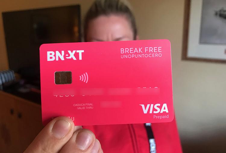 tarjetas para viajar bnext