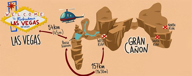 MAPA GRAN CANYON