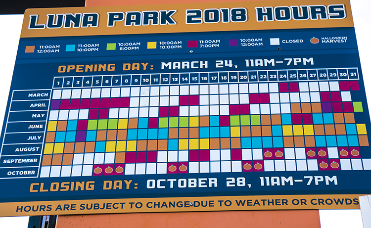 horario luna park 2018