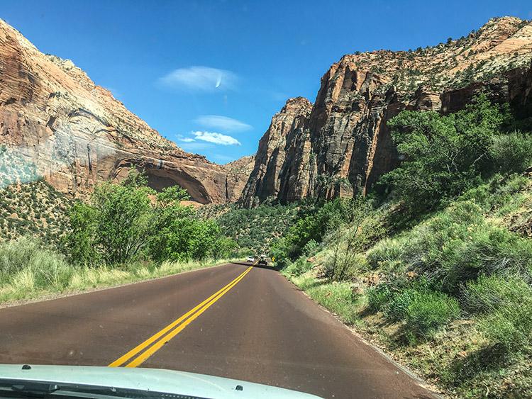 carretera zion parque nacional