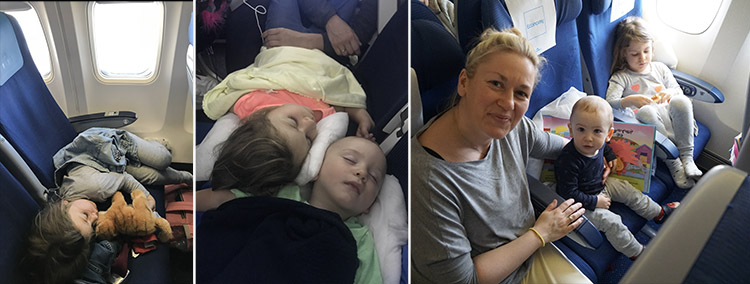 dormir en un avion
