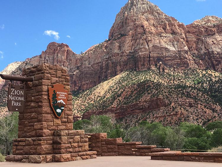 entrada zion parque nacional