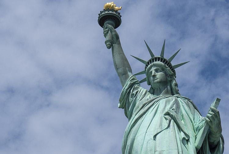 Estatua de la libertad zoom
