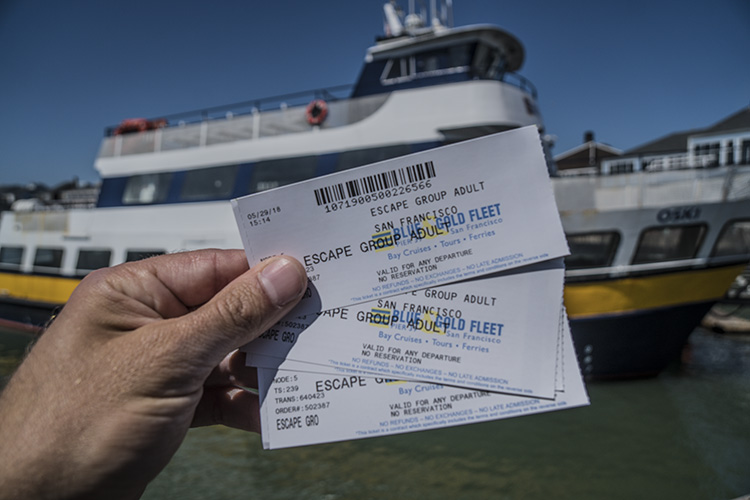 Ticket barco san francisco