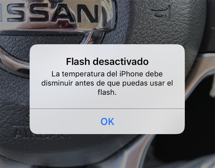 flash desactivado iphone death valley