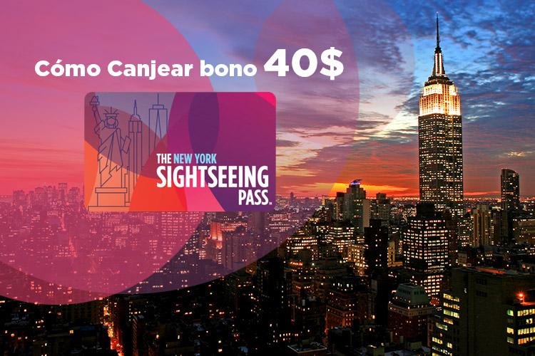 Cómo canjear los 40$ de la Sightseeing pass