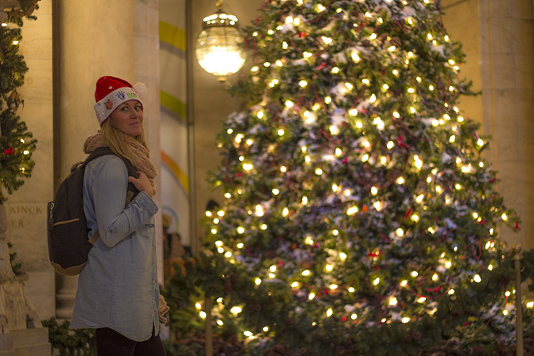 Arbol navidad biblioteca nueva york molaviajar