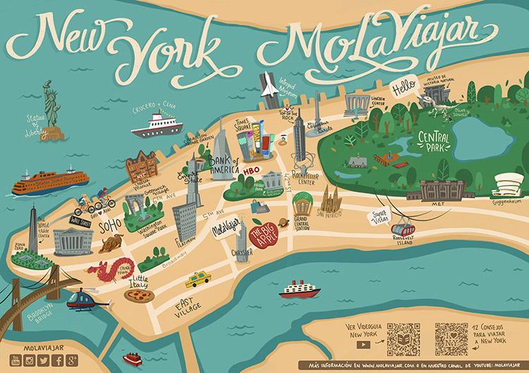 Mapa Nueva York Molaviajar