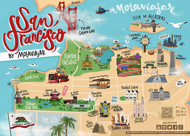 Mapa de San Francisco Molaviajar