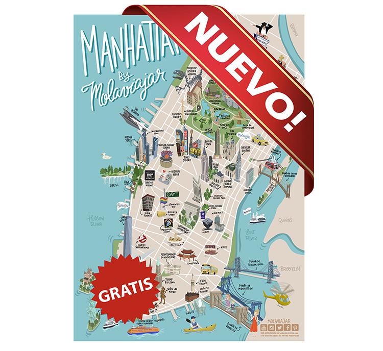 Mapa de Nueva York nuevo Molaviajar Manhattan