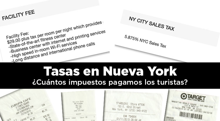 Tasas en Nueva York. ¿Cuántos impuestos pagamos los turistas?