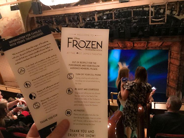 teatro frozen nueva york