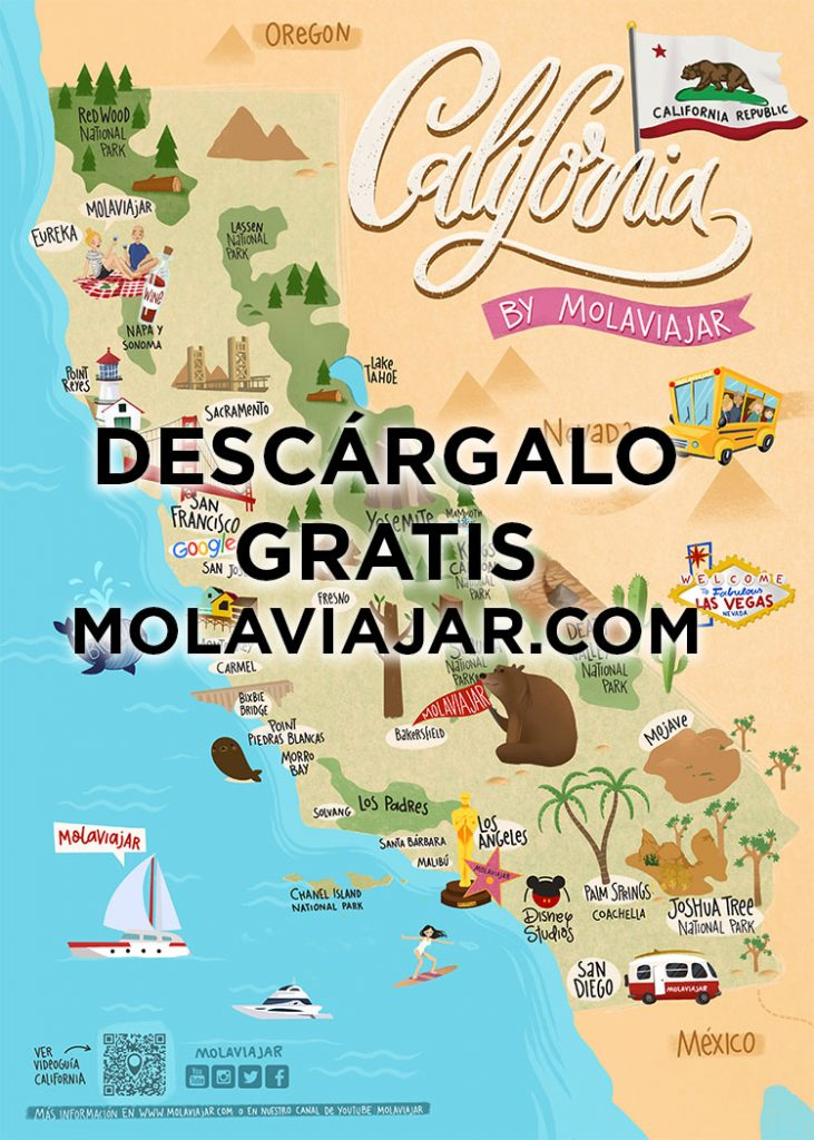 Mapa California molaviajar
