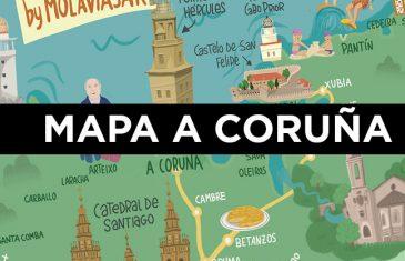 MAPA A CORUNA GALICIA