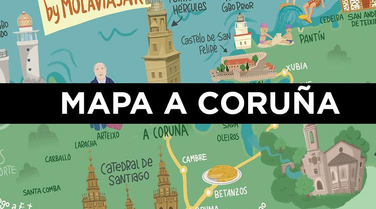 Mapa de A Coruña