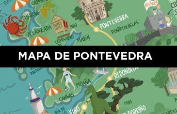 mapa Pontevedra molaviajar