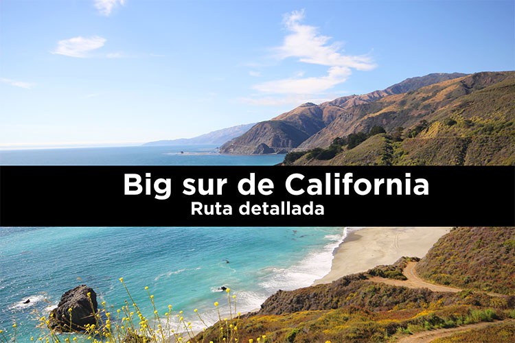 Big sur de California: ruta detallada