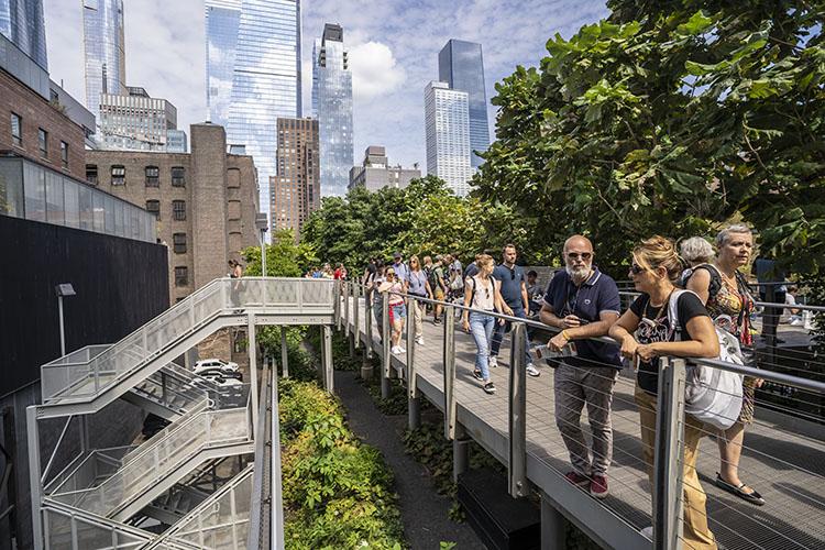 Ruta andando por High Line