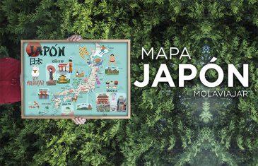 MAPA DE JAPON MOLAVIAJAR