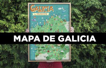 MAPA DE GALICIA POR MOLAVIAJAR