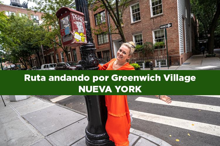 Ruta andando por el Greenwich Village en Nueva York