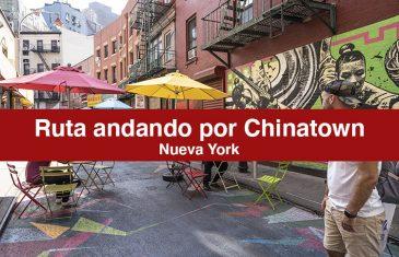 Ruta andando por Chinatown en Nueva York