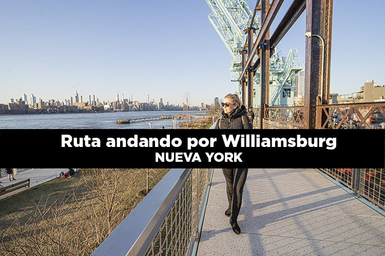 Ruta andando por Williamsburg en Brooklyn
