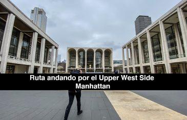 Ruta andando por el Upper West Side de Manhattan