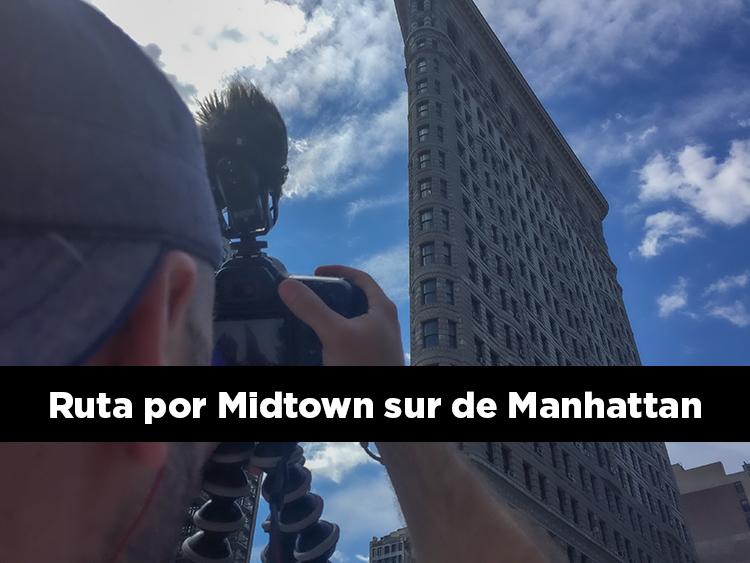 Ruta por Midtown sur de Manhattan