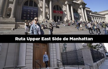 Ruta andando por el Upper East Side de Manhattan