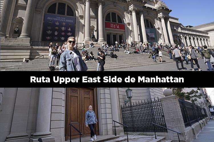 Ruta andando por el Upper East Side de Manhattan