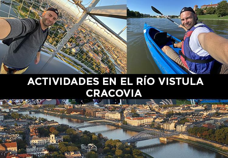 Actividades junto al río Vístula en Cracovia
